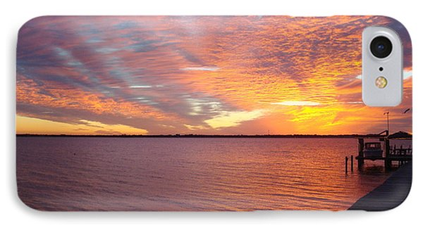 Sunset At Cafe Coconut Cove 2 IPhone Case by Kay Gilley
