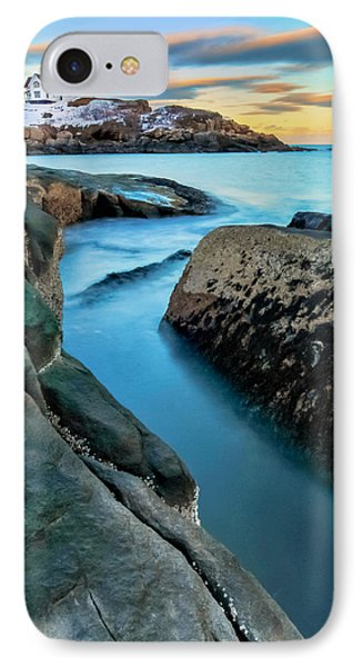 Sunset At Cape Neddick Light- Maine IPhone Case by Thomas Schoeller