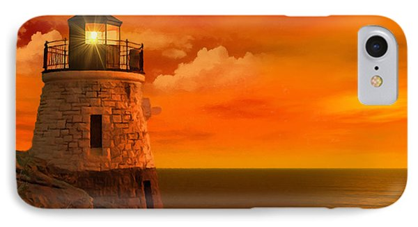 Sunset At Castle Hill IPhone Case by Lourry Legarde
