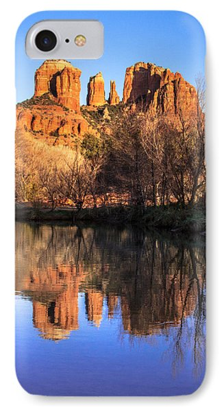 Sunset At Cathedral Rock In Sedona Az IPhone Case by Teri Virbickis