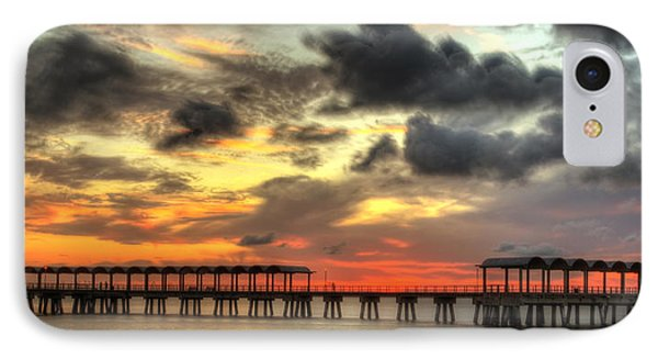 Sunset At Clam Creek Fishing Pier IPhone Case