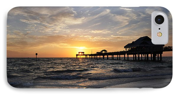 Sunset At Clearwater Phone Case by Bill Cannon
