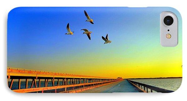 Sunset At Copano Bay Bridge Phone Case by Antonia Citrino