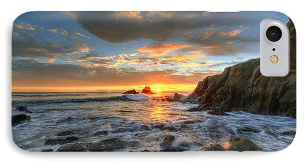 Sunset At Crescent Bay Beach Phone Case by Eddie Yerkish
