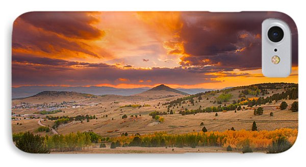 Sunset At Cripple Creek Overlook IPhone Case by Tim Reaves