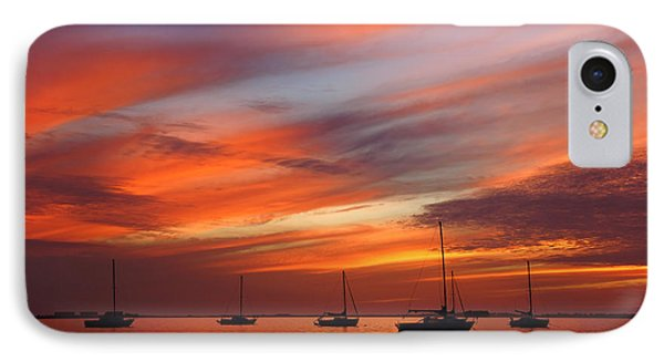 IPhone Case featuring the photograph Sunset At Crystal Beach by Daniel Woodrum