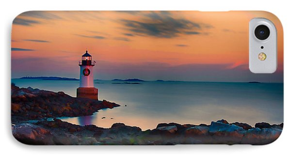 Sunset At Fort Pickering Lighthouse Phone Case by Jeff Folger