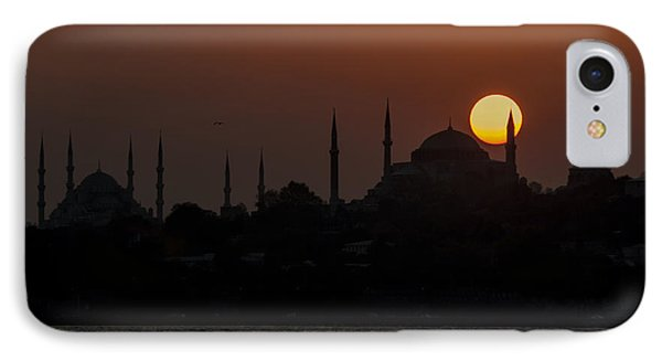 Sunset At Historical Peninsula In Istanbul Phone Case by Ayhan Altun