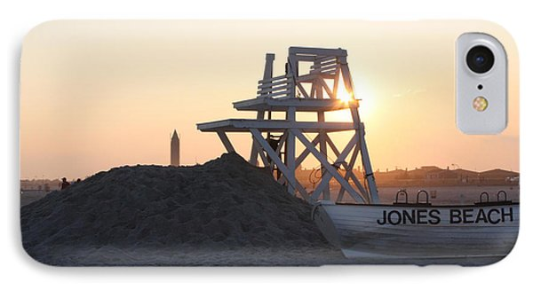Sunset At Jones Beach IPhone Case by John Telfer