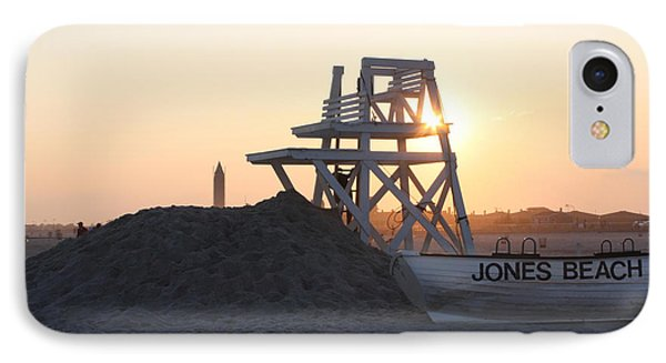 IPhone Case featuring the photograph Sunset At Jones Beach by John Telfer