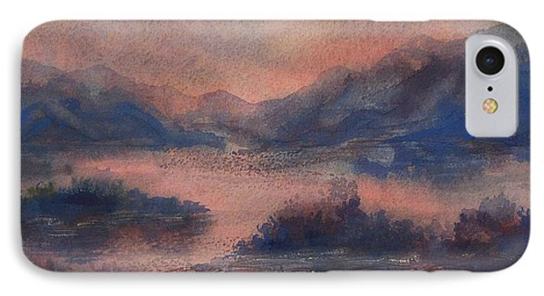 IPhone Case featuring the painting Sunset At Lake Champlain by Joy Nichols