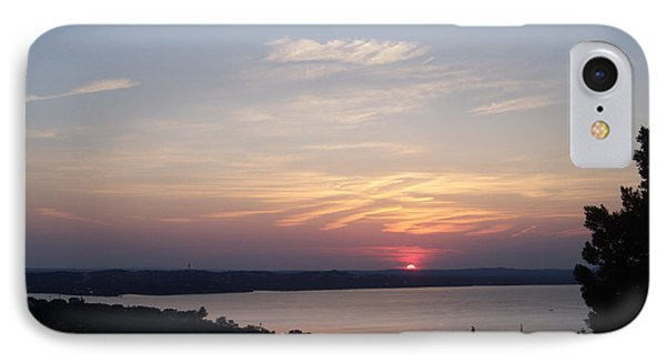 Sunset At Lake Travis IPhone Case by Cindy Croal