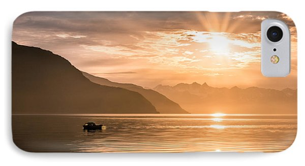 Sunset At Lyngenfjord Phone Case by Janne Mankinen