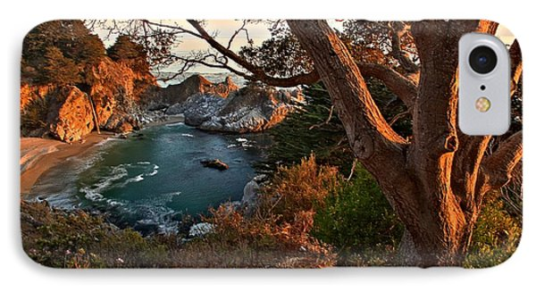 Sunset At Mcway Falls IPhone Case by Adam Jewell