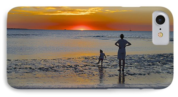 Sunset At Mindil Beach IPhone Case by Venetia Featherstone-Witty