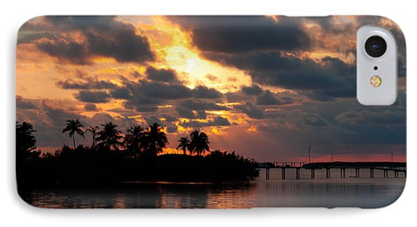 Sunset At Mitchells Keys Villas IPhone Case by Michelle Wiarda
