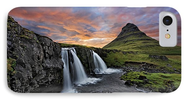 Sunset At Mt. Kirkjufell IPhone Case