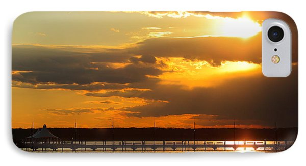 Sunset At National Harbor IPhone Case