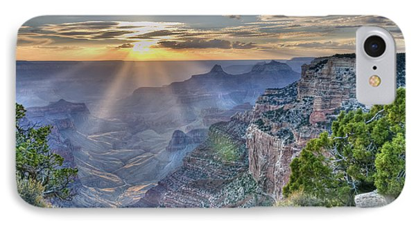 Sunset At Northern Rim Of The Grand Canyon IPhone Case by Wanda Krack