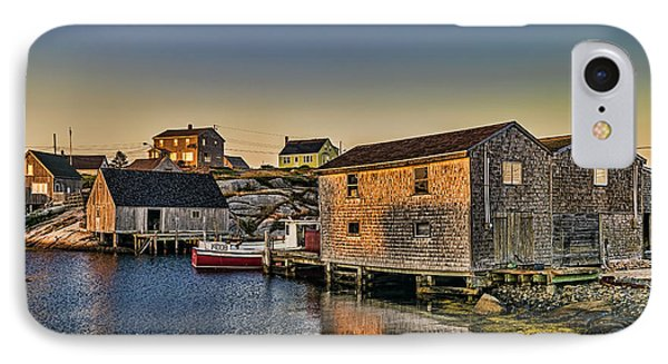 Sunset At Peggy's Cove IIi IPhone Case by Ken Morris