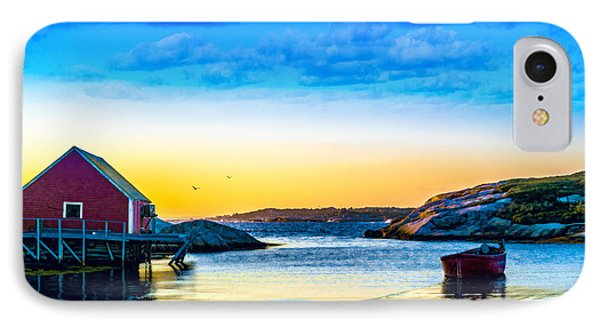 Sunset At Peggy's Cove  IPhone Case by Ken Morris