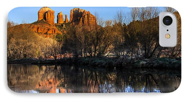 Sunset At Red Rocks Crossing In Sedona Az Phone Case by Teri Virbickis