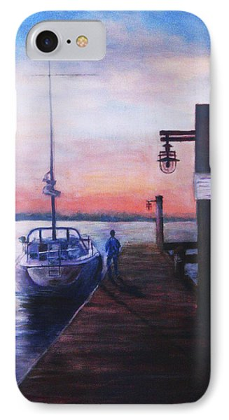IPhone Case featuring the painting Sunset At Rocky Point by Sher Nasser
