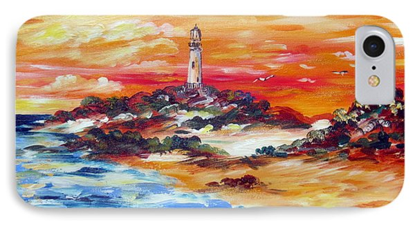 IPhone Case featuring the painting Sunset At Rottnest  Island Lighthouse by Roberto Gagliardi