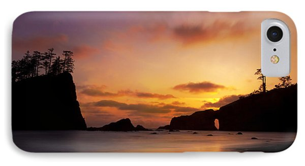 Sunset At Second Beach IPhone Case by Keith Kapple