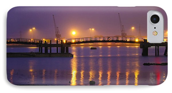 Sunset At Southampton Docks Phone Case by Terri Waters