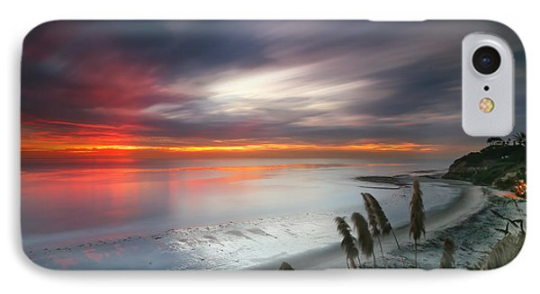 Sunset At Swamis Beach 4 Phone Case by Larry Marshall
