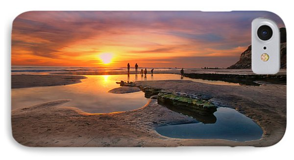 Sunset At Swamis Beach 5 Phone Case by Larry Marshall