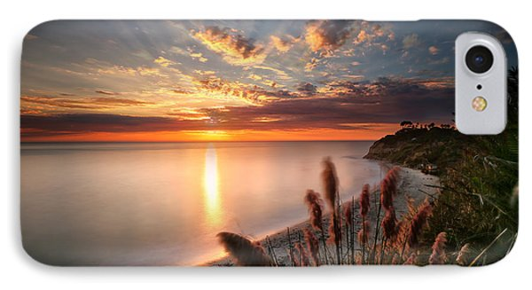 Sunset At Swamis Beach 7 IPhone Case by Larry Marshall