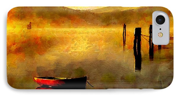 Sunset At The Bay IPhone Case by Wayne Pascall