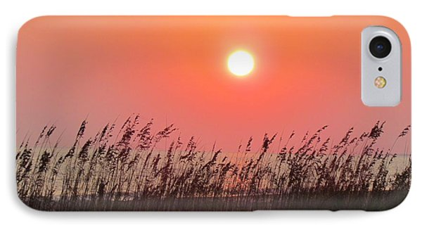 IPhone Case featuring the photograph Sunset At The Beach by Cynthia Guinn