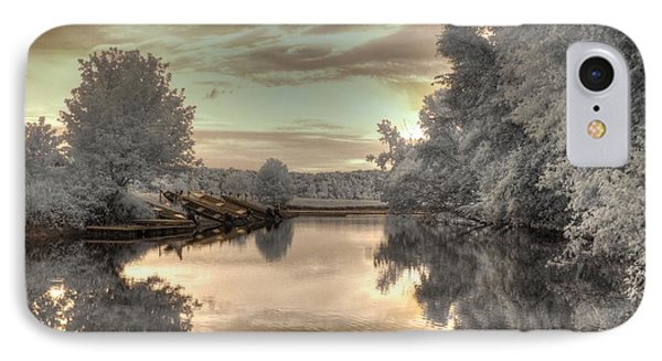 Sunset At The Boathouse Phone Case by Jane Linders