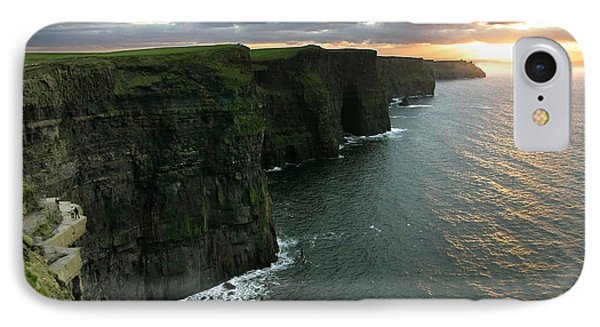 Sunset At The Cliffs Of Moher Ireland IPhone Case by Pierre Leclerc Photography