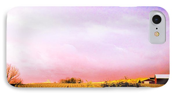 Sunset At The Farm IPhone Case by Sara Frank