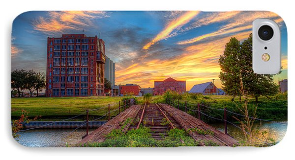 Sunset At The Imperial Sugar Factory Early Stage Landscape IPhone Case