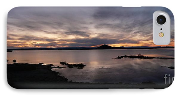 Sunset Over Lake Myvatn In Iceland IPhone Case by IPics Photography