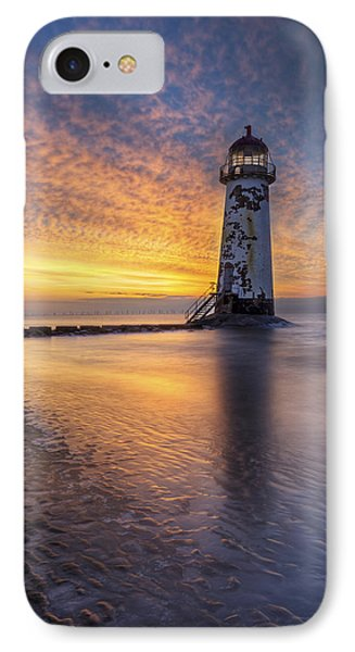 Sunset At The Lighthouse IPhone Case by Ian Mitchell