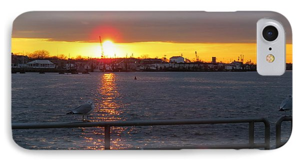 Sunset At The Manasquan Inlet IPhone Case by Melinda Saminski