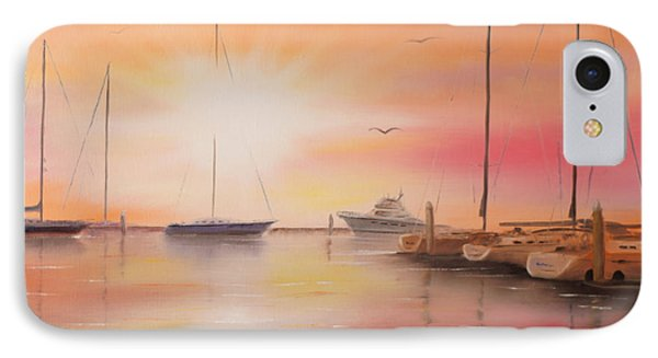 Sunset At The Marina IPhone Case