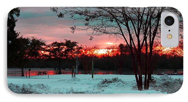 Sunset At The Park Phone Case by Carolyn Ricks