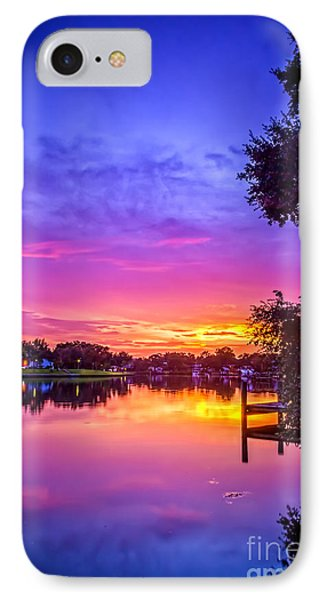 Sunset At The Pier IPhone Case by Marvin Spates
