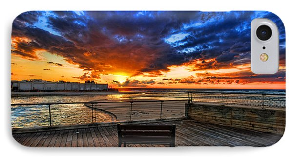 sunset at the port of Tel Aviv IPhone Case