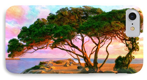 Sunset At The Wedge In Newport Beach IPhone Case by Michael Pickett