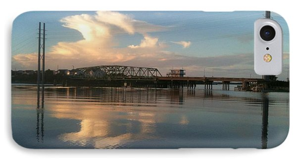 IPhone Case featuring the photograph Sunset At Topsail Island Bridge by Shelia Kempf