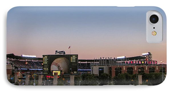 Sunset At Turner Field IPhone Case by Tom Gort