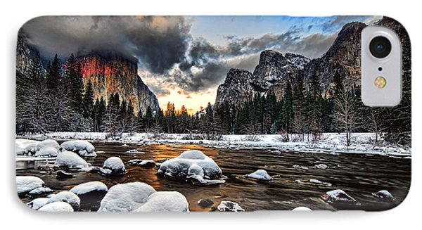 Sunset At Yosemite Valley IPhone Case